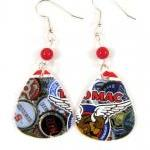 Earrings, Recycled Jewelry Made Wit..